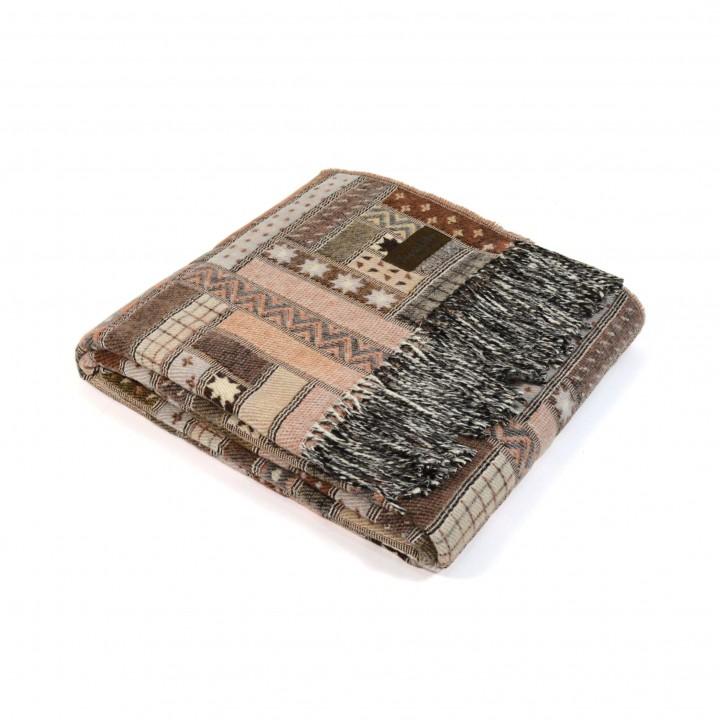 Плед шерстяной «Baltimora №3950» (цвет: бежевый; 130х180 см; 100% шерсть мериноса)