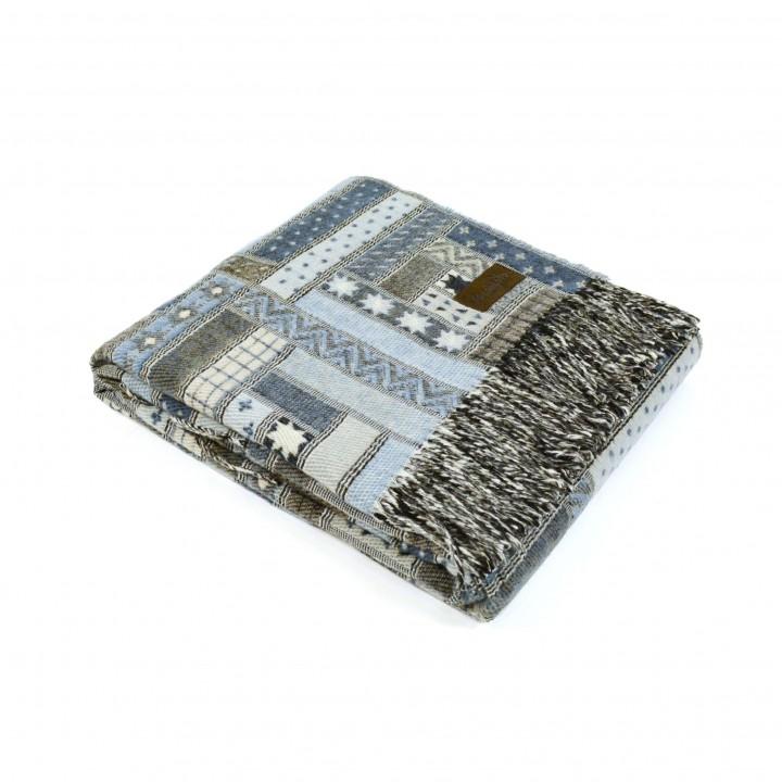 Плед шерстяной «Baltimora №6950» (цвет: светло-голубой; 130х180 см; 100% шерсть мериноса)