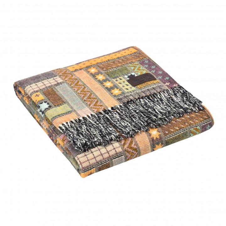 Плед шерстяной «Baltimora №7950» (цвет: мультиколор; 130х180 см; 100% шерсть мериноса)