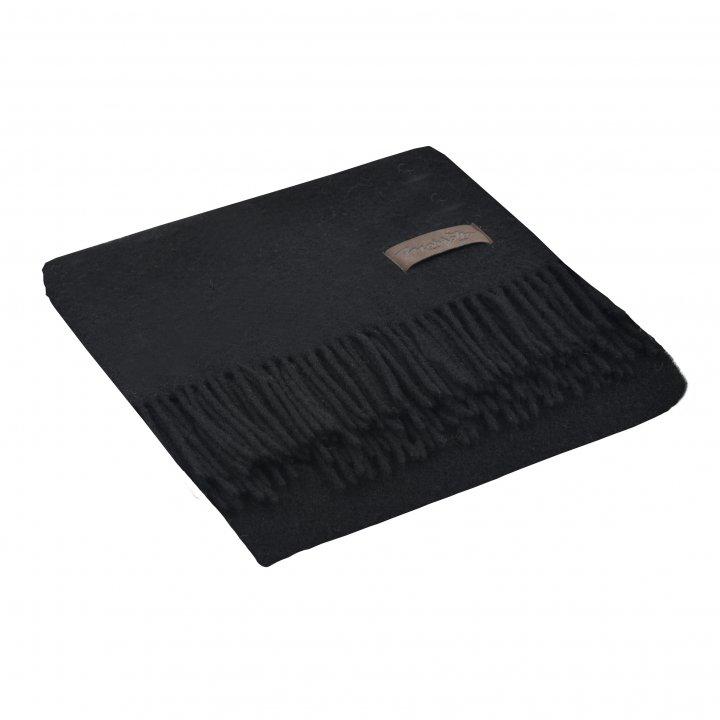 Плед шерстяной «DALIA 0199» (цвет: черный, 130х180 см, шерсть)