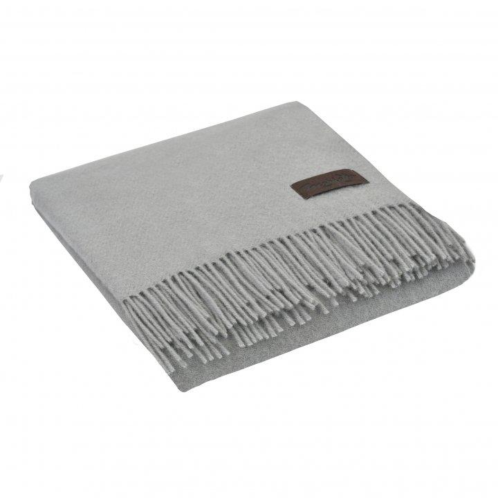 Плед шерстяной «DALIA 3227» (цвет: серый, 130х180 см, шерсть)