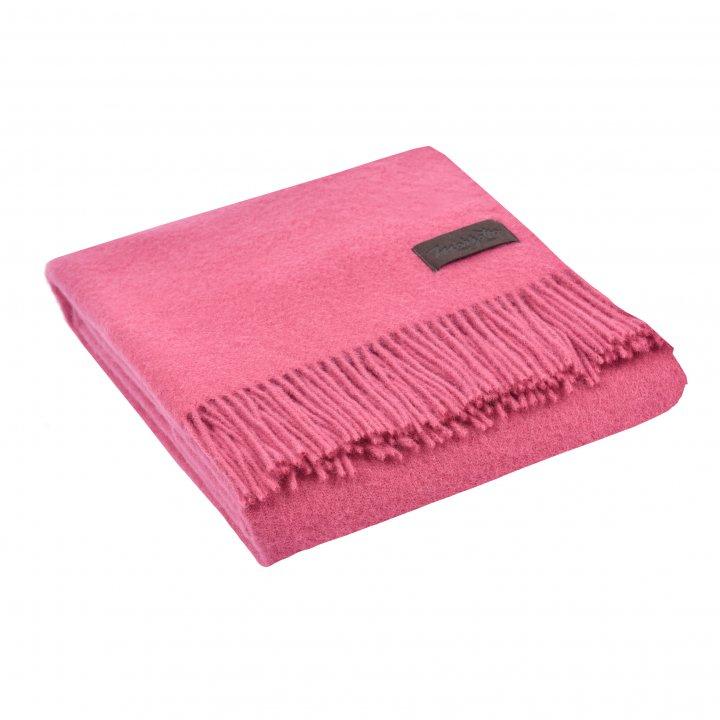 Плед шерстяной «DALIA 3828» (цвет: розовый, 130х180 см, шерсть)