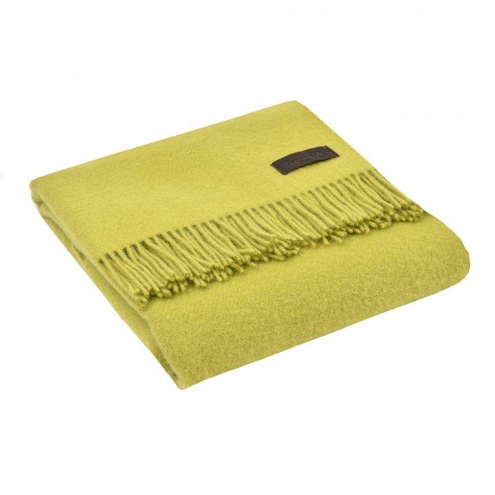 Плед шерстяной «DALIA 7989» (цвет: салатовый, 130х180 см, шерсть)