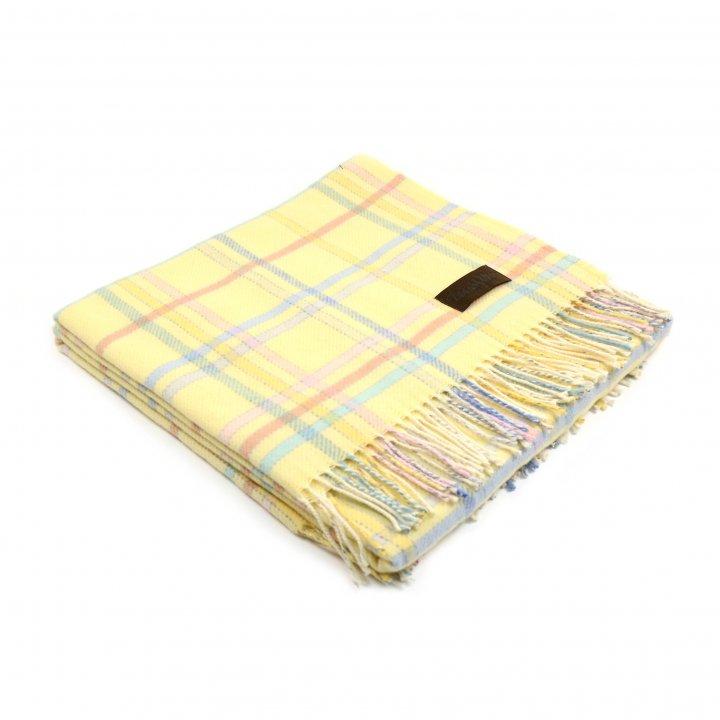 Плед детский шерстяной «DOLCEZZA T/L S2 0004» (цвет: желтый, 110х150 см, шерсть мериноса/хлопок)