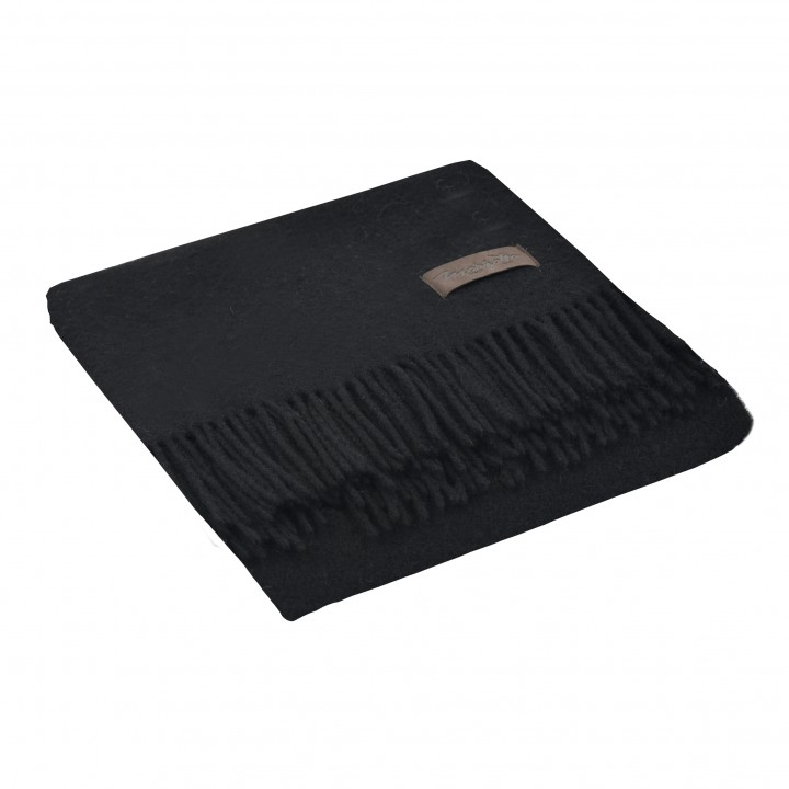 Плед шерстяной «Dalia №0199», цвет: черный (130х180 см; 100% овечья шерсть)