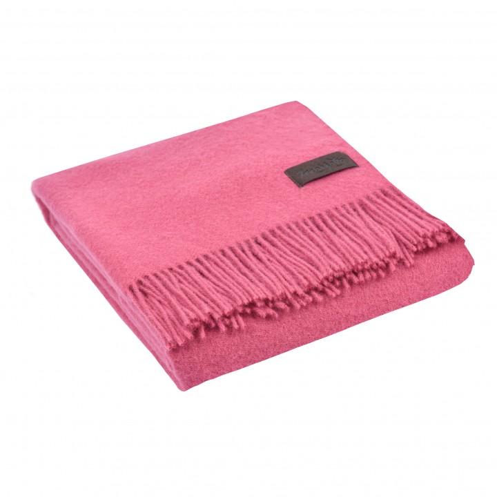 Плед шерстяной «Dalia №3828», цвет: розовый (130х180 см; 100% овечья шерсть)