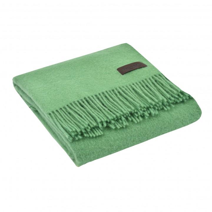 Плед шерстяной «Dalia №7991» (цвет: светло-зеленый; 130х180 см; 100% овечья шерсть)