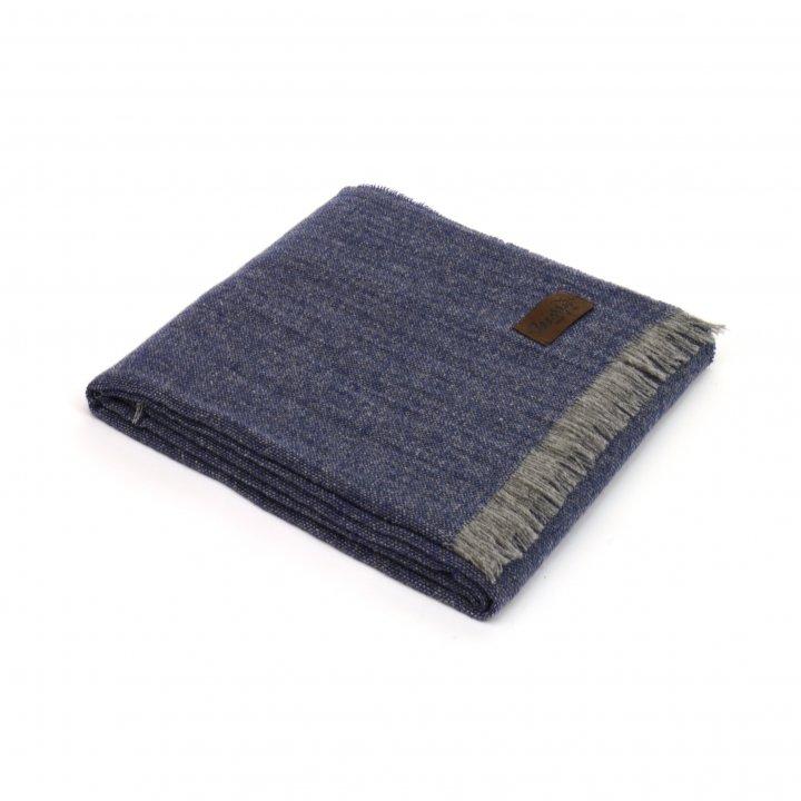Плед шерстяной «ERA BLEND 1640» (цвет: сине-серый, 130х180 см, шерсть мериноса)