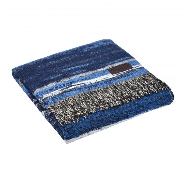 Плед хлопковый «LITORALE 4000» (цвет: синий, 130х180 см, хлопок)