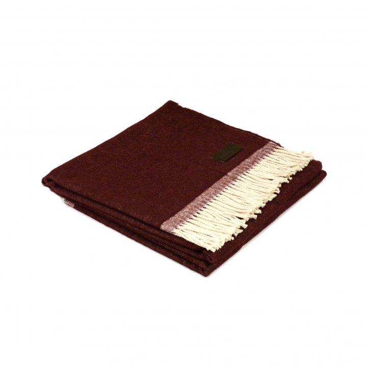 Плед шерстяной «MORFEO 3200» (цвет: бордовый, 130х180 см, шерсть/хлопок)