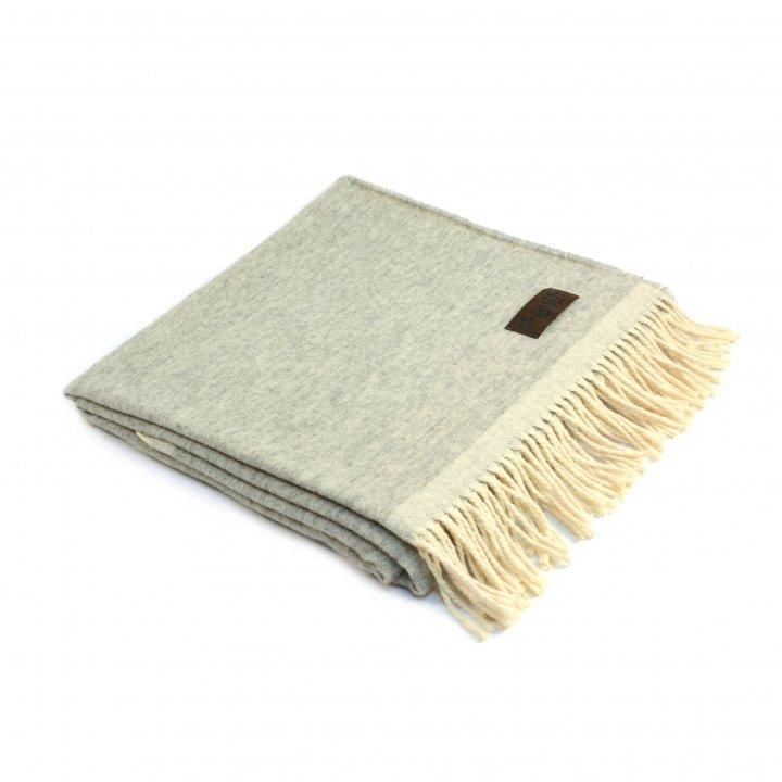 Плед шерстяной «MORFEO 6000» (цвет: светло-серый, 130х180 см, шерсть/хлопок)