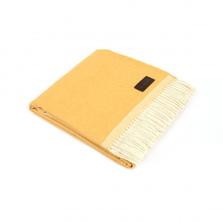 Плед шерстяной «MORFEO 7000» (цвет: желтый, 130х180 см, шерсть/хлопок)
