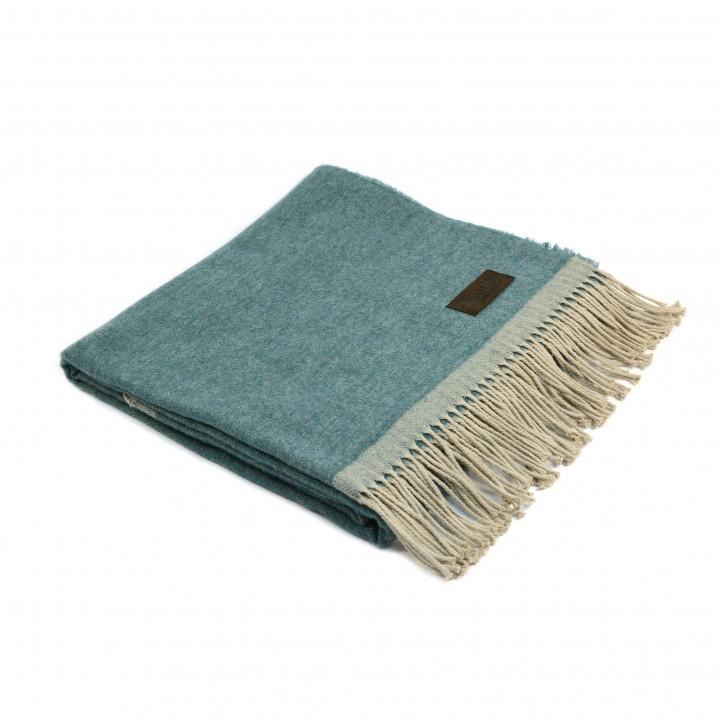 Плед шерстяной «Morfeo №5000» (цвет: зеленый; 130х180 см; 70% овечья шерсть, 30% хлопок)