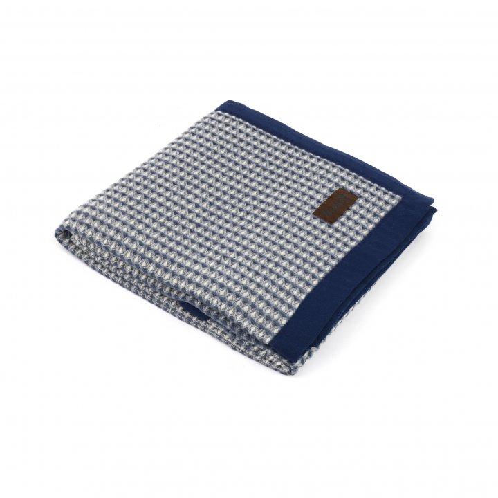 Детский плед-покрывало шерстяной «PRIMAVERA S1 4000» (цвет: синий, 75х115 см, шерсть мериноса/хлопок)