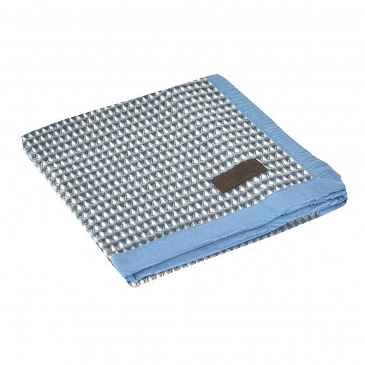 Детский плед-покрывало шерстяной «PRIMAVERA S2 4000» (цвет: голубой, 100х150 см, шерсть мериноса/хлопок)
