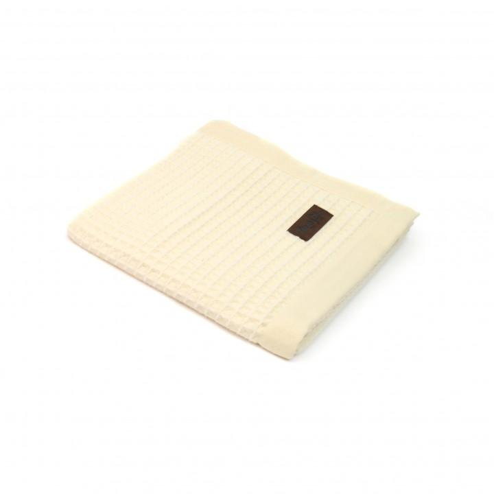 Детский плед-покрывало шерстяной «PRIMAVERA S2 9000» (цвет: ванильный, 100х150 см, шерсть мериноса/хлопок)
