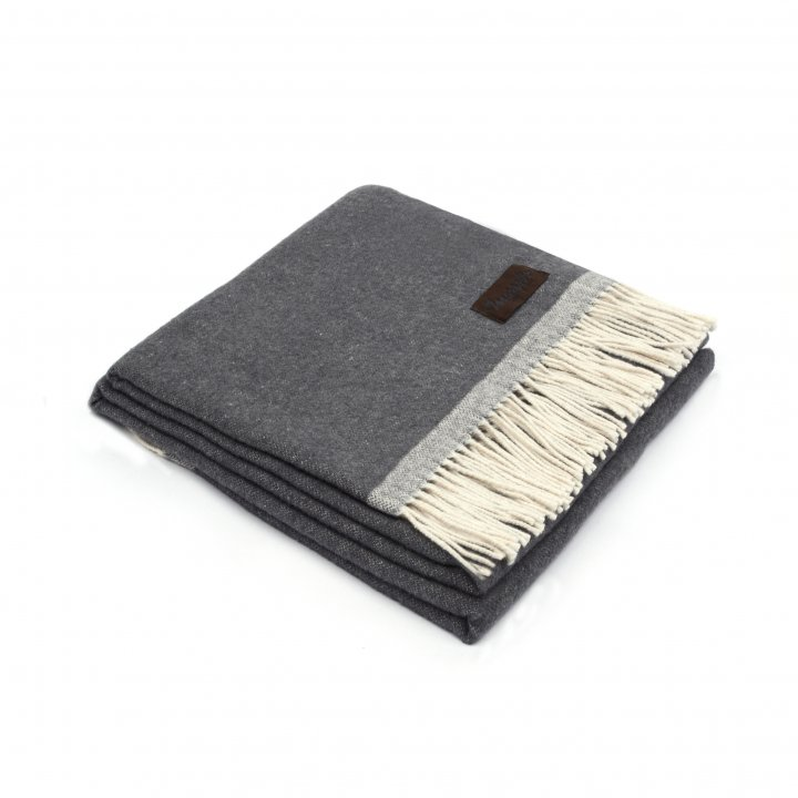 Плед хлопковый «SARA 6000» (цвет: серый, 130х170 см, хлопок)