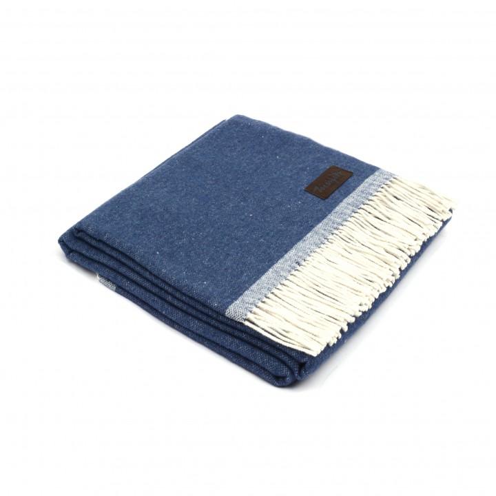 Плед хлопковый «Sara №4000» (цвет: синий; 130х170 см; 100% хлопок)