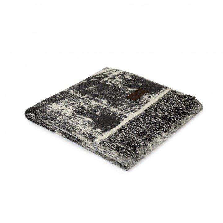Плед шерстяной «TOTEM BLEND 0032» (цвет: серый, 130х180 см, шерсть альпаки/хлопок)