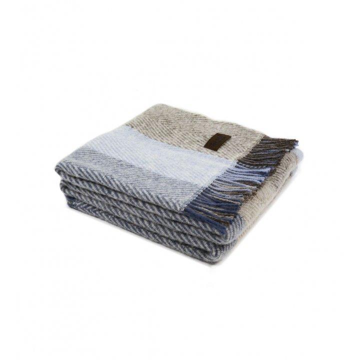 Плед шерстяной «VADSO SPINA 1002» (цвет: голубой, 130х180 см, шерсть)