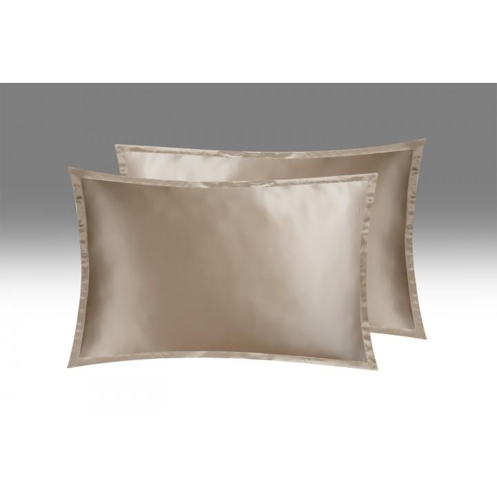 Шелковая наволочка «Shine», цвет: карамель (50х70 см; шармез: 100% шелк Mulberry)