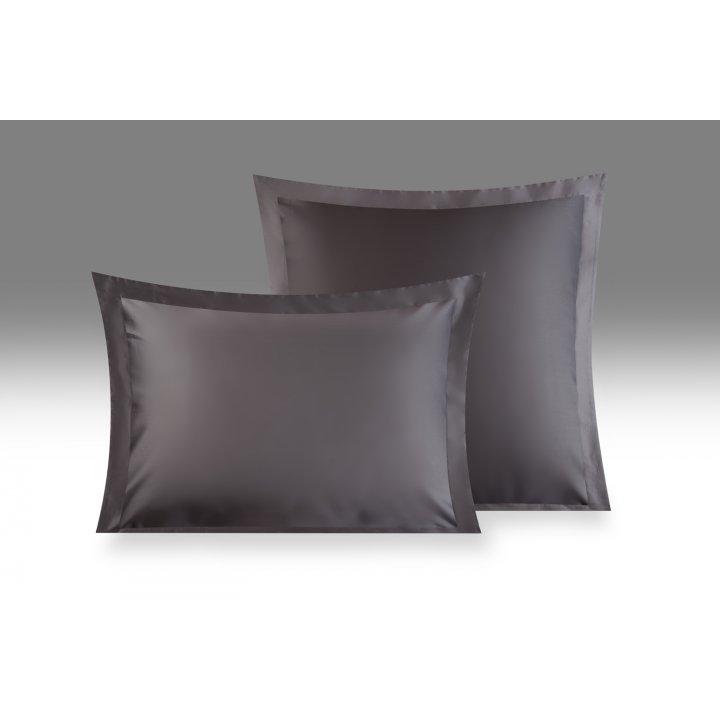 Наволочка «Derian» (цвет: темно-серый, 70х70 см, сатин)